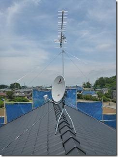 白岡町上野田T様 アンテナ工事完了。