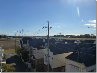 行田市小針N様 東京タワー方向の景色(完了)。