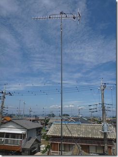 熊谷市善ヶ島T樣 アンテナ工事完了。