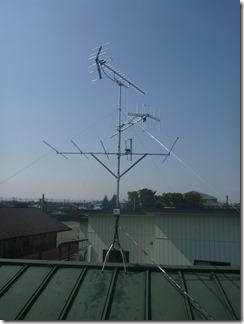 熊谷市妻沼H樣 アンテナ工事完了。