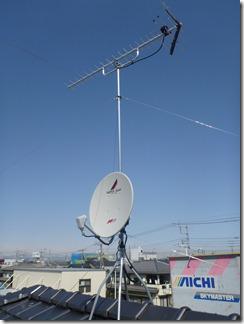 鴻巣市雷電I樣 アンテナ工事完了。