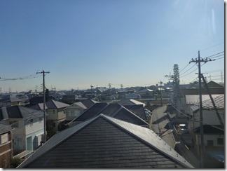 鴻巣市天神K様 東京スカイツリー方向の景色(完了)。