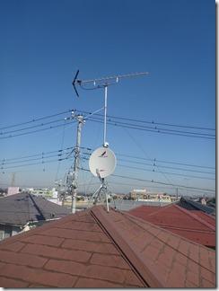 鴻巣市天神K様 アンテナ工事完了。