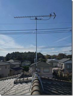 北本市本町K様 アンテナ工事完了(UHF)。