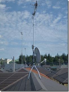 鴻巣市大間K様 アンテナ工事完了。