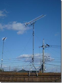 加須市陽光台K様 アンテナ工事完了。