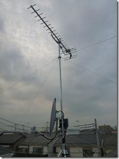 白岡町古久喜M様 アンテナ工事完了。
