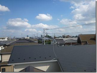 桶川市東N様 東京タワー方向の景色(完了)。