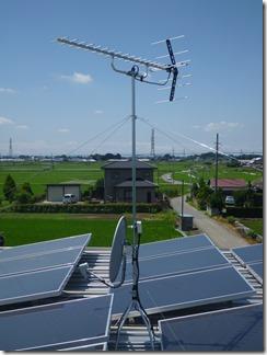 鴻巣市関新田O樣 アンテナ工事完了。
