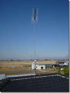鴻巣市北根S様 アンテナ工事完了。