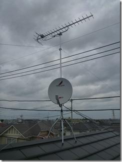 鴻巣市天神W樣 アンテナ工事完了。
