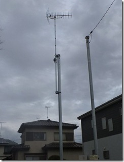 北本市古市場Y様 アンテナ工事完了。