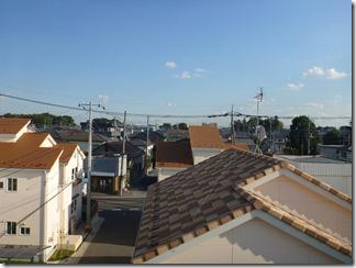 蓮田市関山Y様 東京タワー方向の景色。