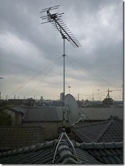 久喜市栗橋東K様 アンテナ工事完了。