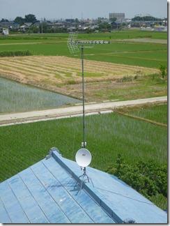 鴻巣市大芦F様 アンテナ工事完了。