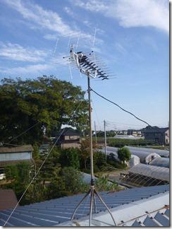 久喜市菖蒲町小林S様 アンテナ工事完了。
