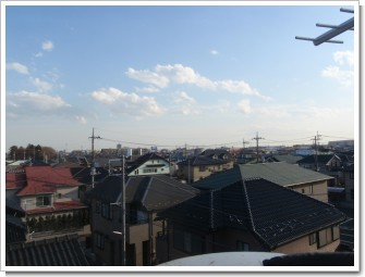 桶川市加納K様 東京タワー方向の景色。.JPG