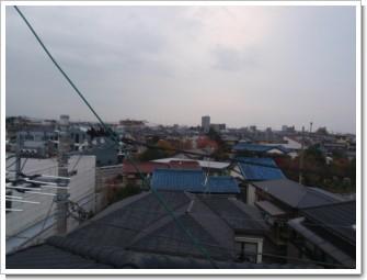 上尾市久保K様 受信方向(東京タワー・反射波)方向の景色(完了)。.JPG