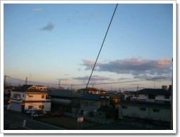 上尾市春日I様受信方向の景色。.JPG