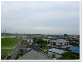 行田市前谷A様 東京タワー方向の景色。.JPG
