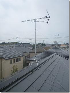 上尾市小泉M様 アンテナ工事完了。