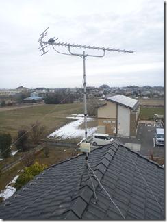 行田市南河原K様 アンテナ工事完了。