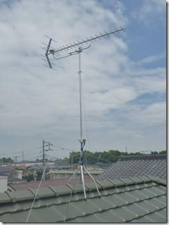 北本市緑I様 アンテナ工事完了。