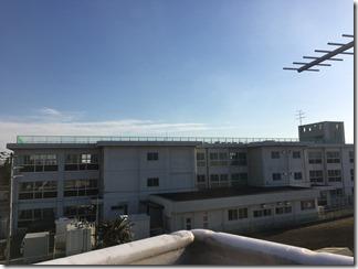 鴻巣市屈巣D様 東京スカイツリー方向の景色(完了)。