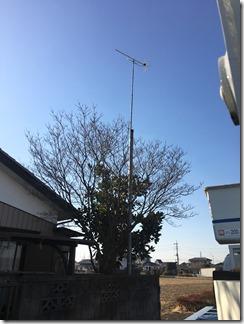 鴻巣市屈巣D様 アンテナ工事完了。