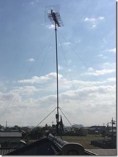 鴻巣市笠原S様 アンテナ工事完了。