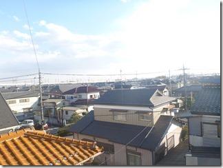 久喜市南W様 東京スカイツリー方向の景色(完了)。