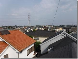 鶴ヶ島市下新田N様 東京スカイツリー方向の景色。