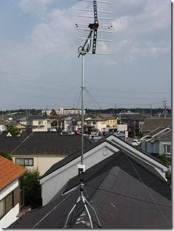鶴ヶ島市下新田N様 アンテナ工事完了。