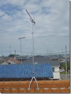 鴻巣市宮地H様 アンテナ工事完了。