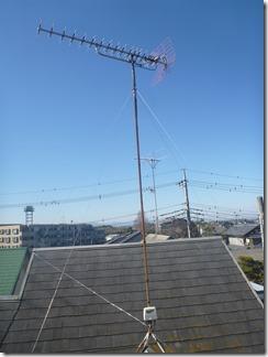 熊谷市久下K様 アンテナ工事完了。